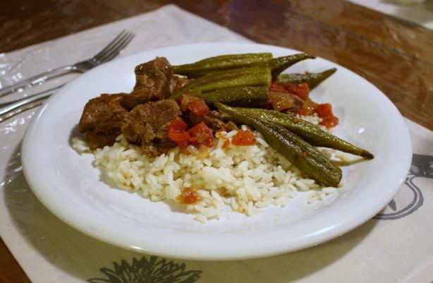 Bamya ( Lamb or Beef and Okra Stew)