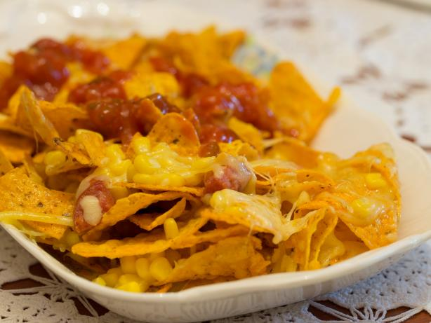 Spicy Corn and Chorizo Nachos