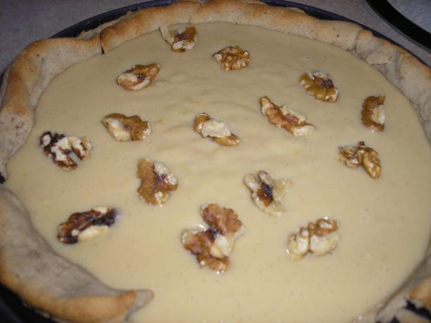 Butterscotch Cream Pie With a Walnut Crust