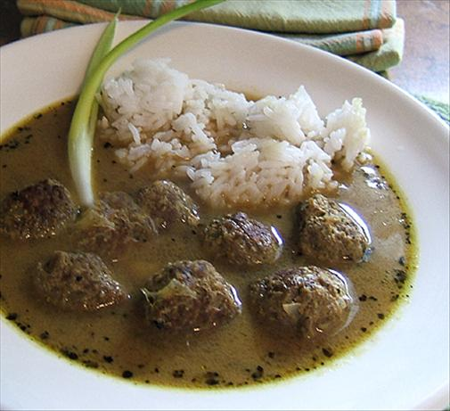 Curry Soup With Meatballs