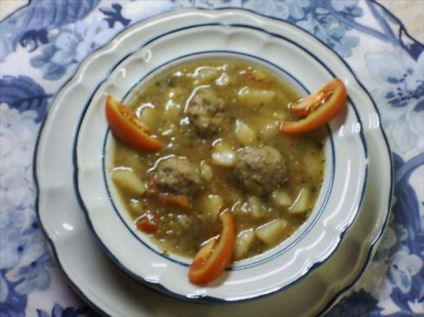 Potato Soup with Meat Dumplings
