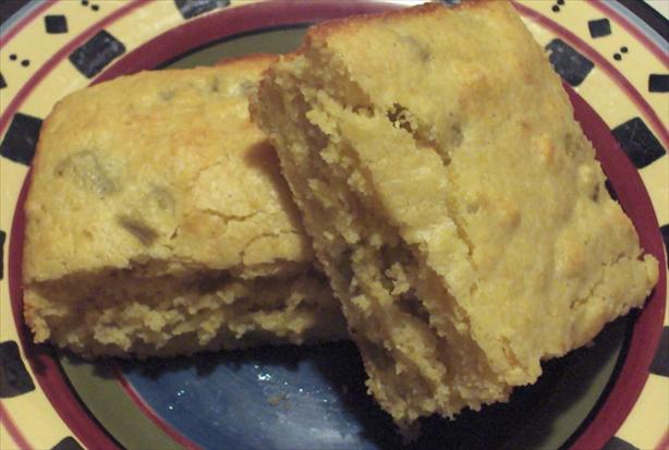 Chile Cheese Cornbread in a Jiffy