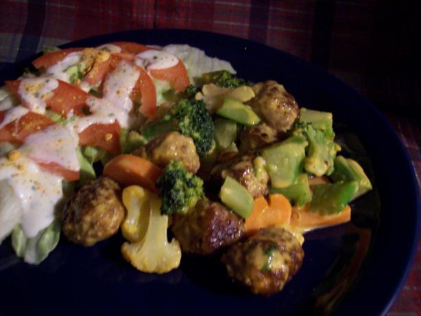 Cheesy, Meatball, Veggie Casserole