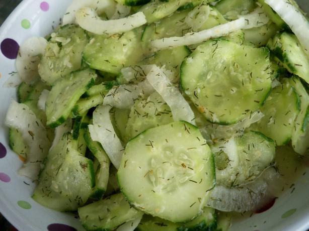 Cucumber Salad (With Horseradish & Mustard)