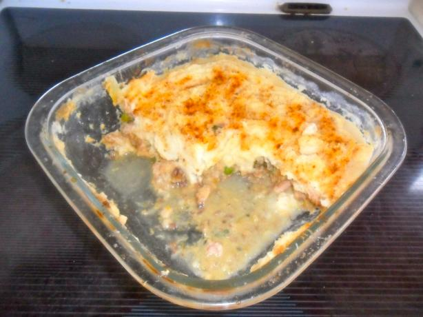 Creamy Corn Smoked Fish Pie