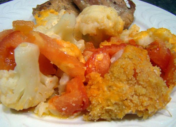 Low-Fat Cauliflower Tomato Casserole