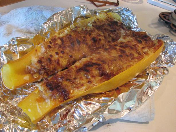 Cheesy Stuffed Summer Squash