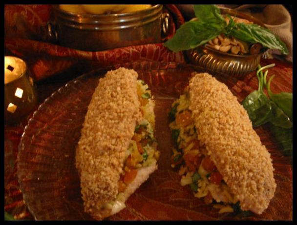 Cashew Crusted Stuffed Tilapia