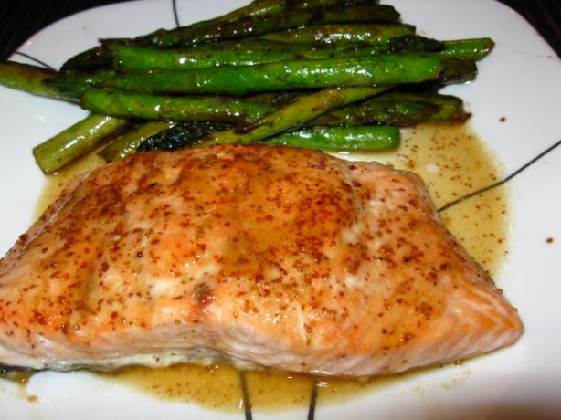 Broiled Salmon With Honey & Vermouth