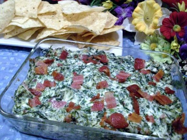 Hot Spinach Dip With Bacon