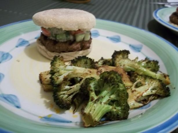 Hungry-Man Bloody-Mary Burgers and Spicy Broccoli