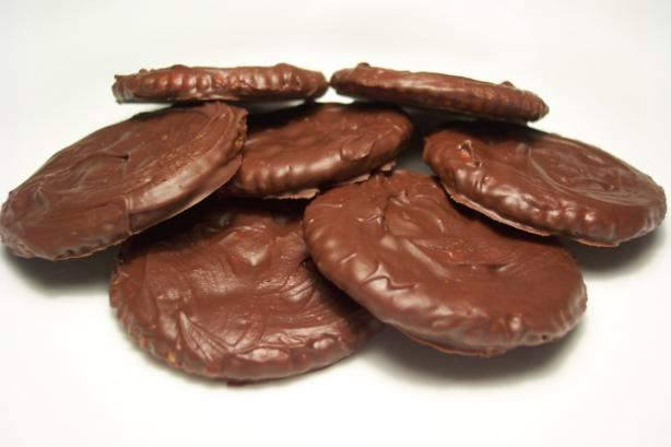 Mock Girl Scout Thin Mint Cookies