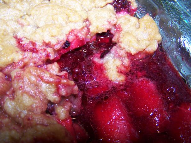 Blackberry and Apple Crisp