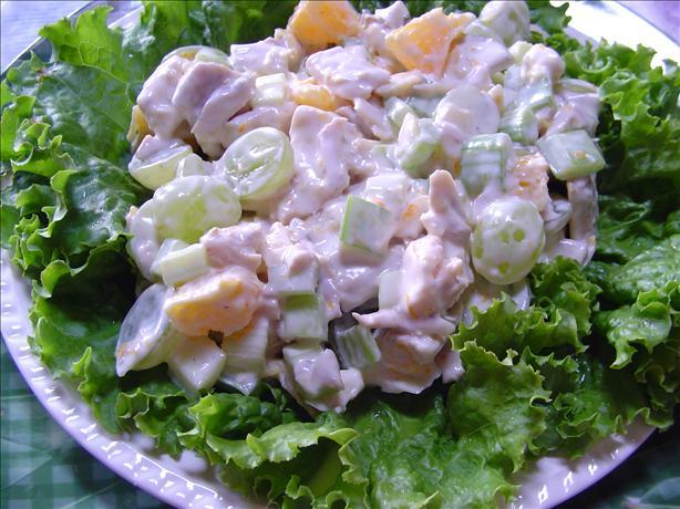 Orange Fruit Chicken Salad