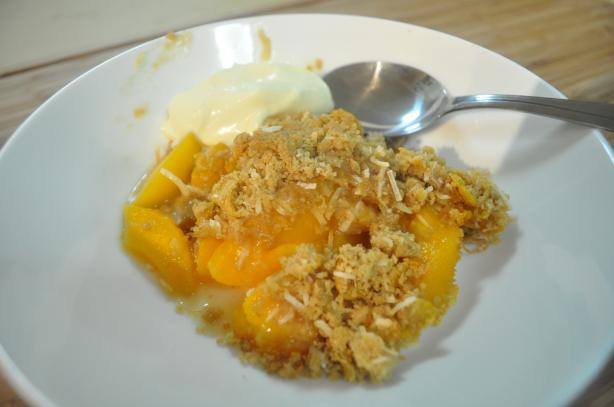 Peach Crumble Crunch