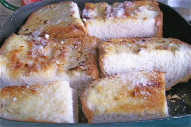 Pan-Fried Garlic Bread