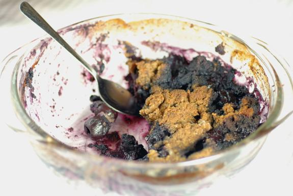Gluten Free Blueberry Cherry Crumble