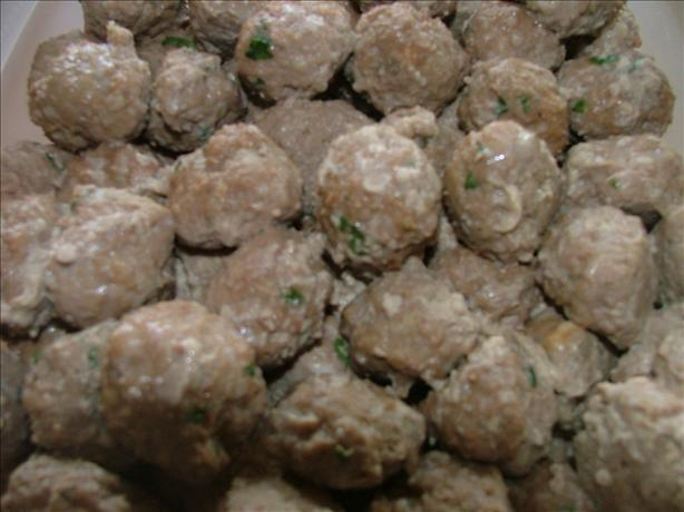 Garlic Italian Meatballs...for a Crowd!