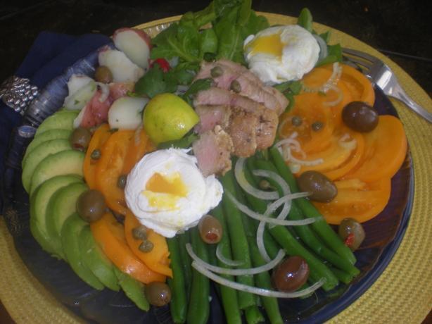 Grilled Tuna Salad Nicoise