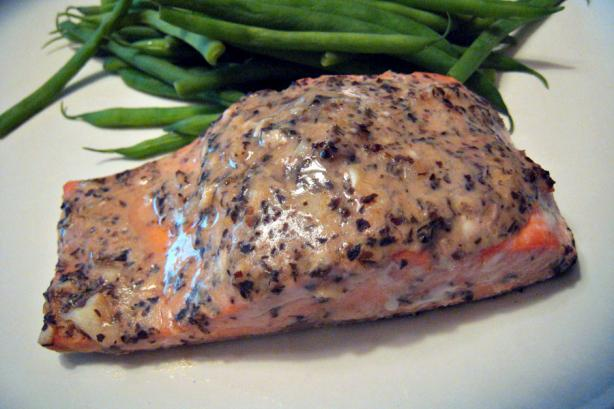 Honey Mustard Basil Salmon