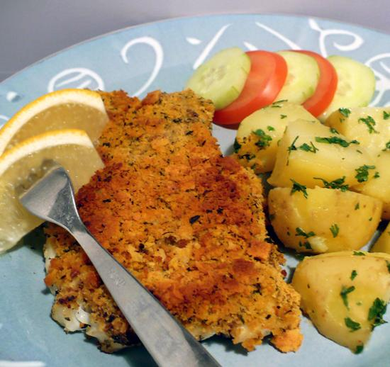 Baked Cod With Crunchy Lemon-Herb Topping