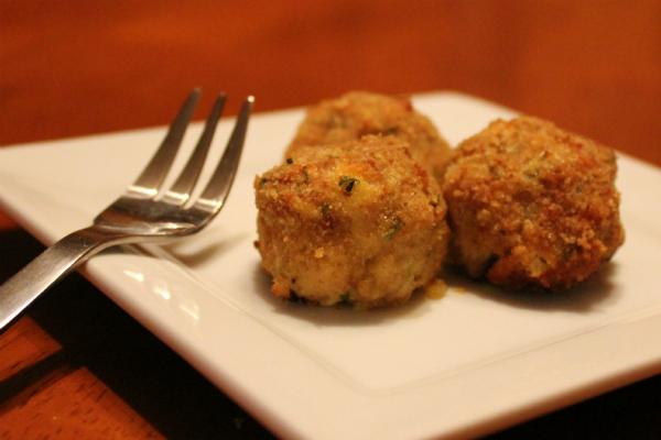 Cheesy Artichoke Chicken Balls