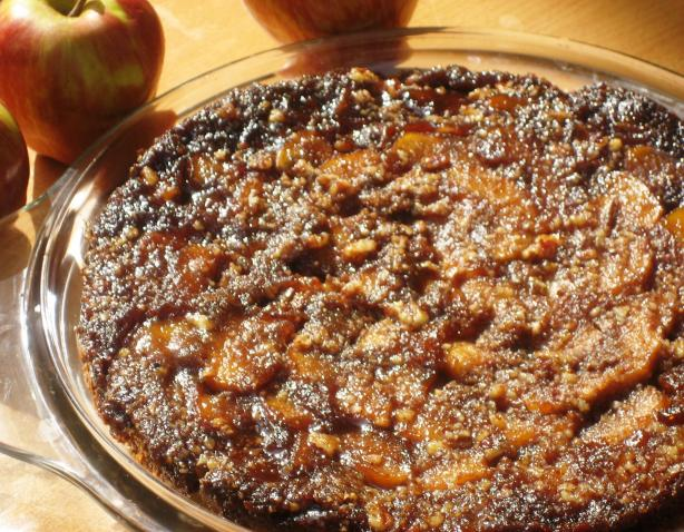 Apple Pecan Upside Down Cake