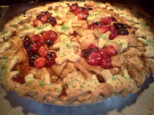Caramel Apple Cran-Cherry Pie