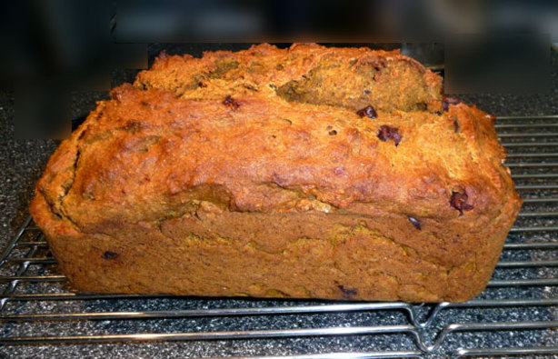 Heathier Banana Pumpkin Spice Bread