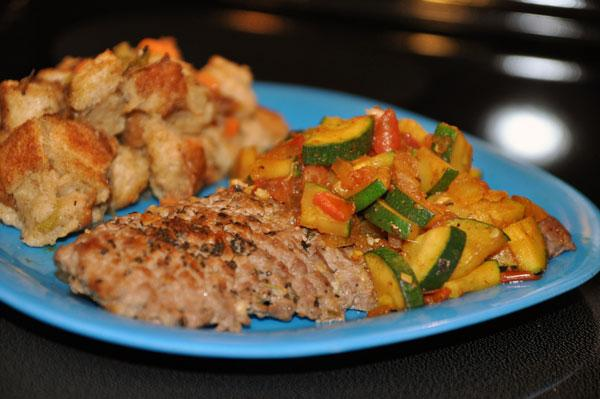 Cube Steak With Curried Vegetables