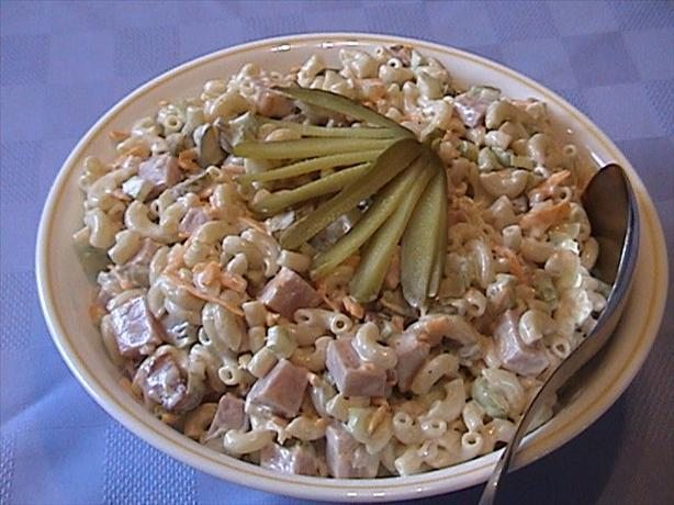 Ham and Cheddar Macaroni Salad