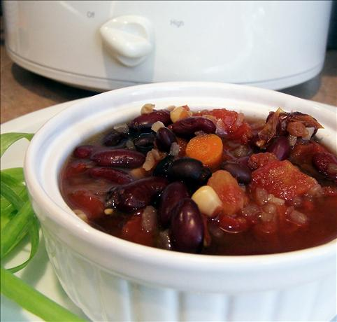Black and Red Mexican Slow Cooker Soup