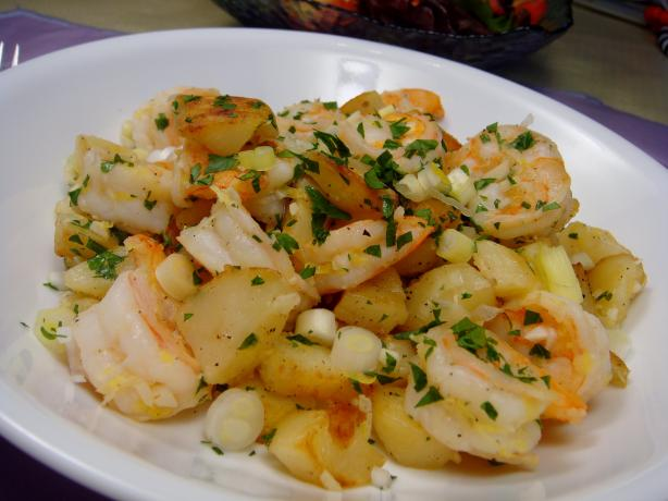 Potatoes Sauteed With Shrimp