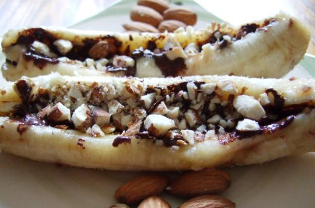 Chocolate & Macadamia Baked Bananas