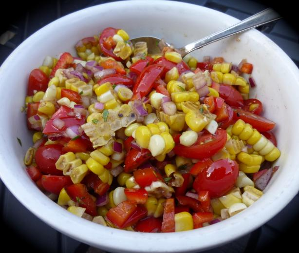 Roasted Corn and Tomato Relish