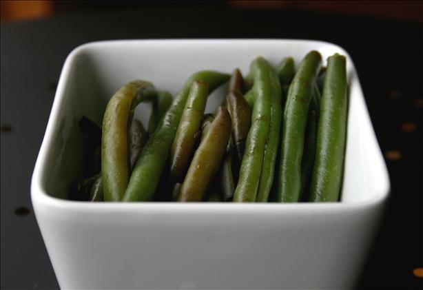 Maple Glazed green Beans