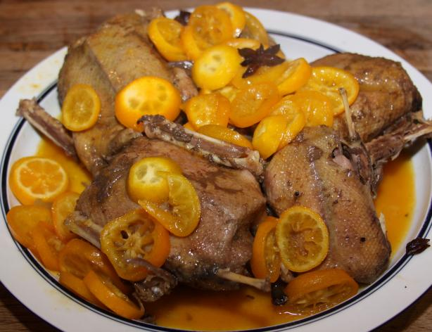 Roasted Duck With Kumquat Sauce
