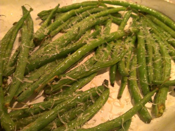 Roasted Zesty Parmesan Green Beans