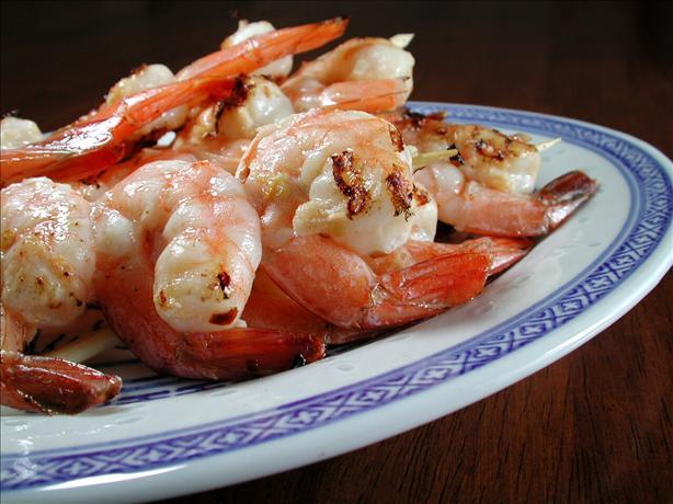 Simple Skewered Shrimp