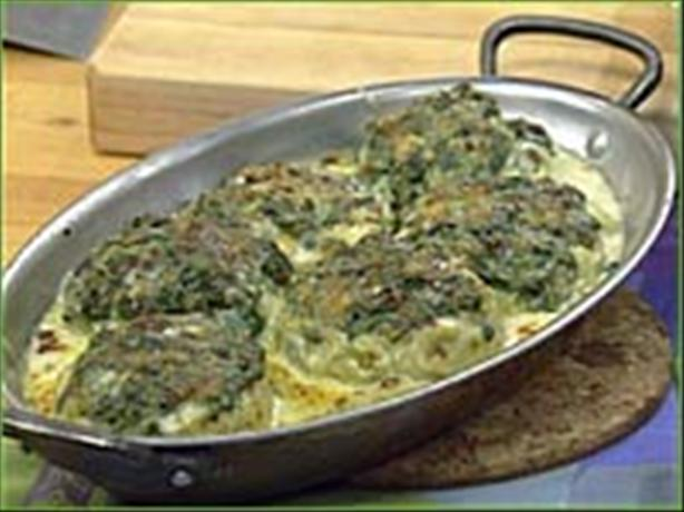 Spinach Stuffed Artichoke Bottoms
