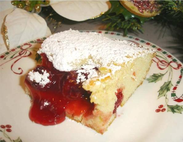 Buttery Cherry Drop Cake