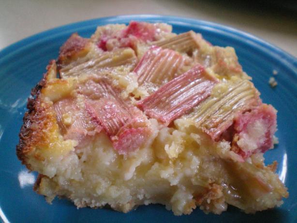 Rhubarb Cream Squares
