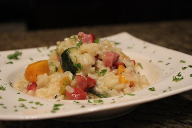 Ham, Zucchini & Pumpkin Risotto