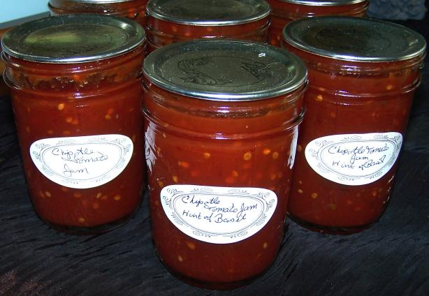 Chipotle Tomato Jam With a Hint of Basil
