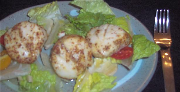 Maple Mustard Scallops