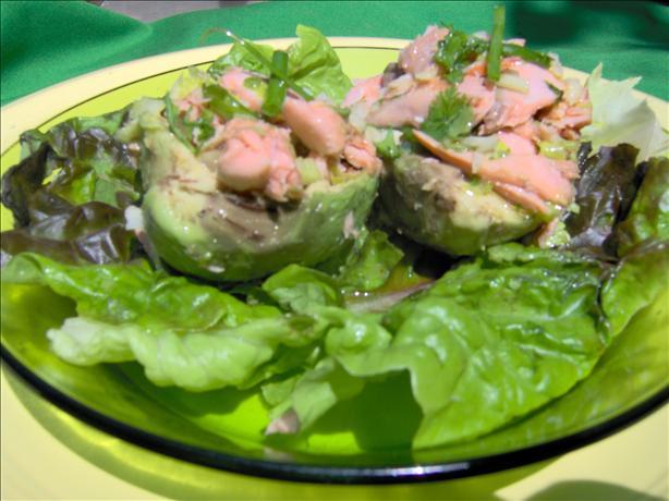 Salmon Salad on the Half Shell