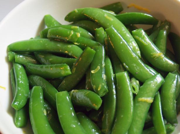 Lemony Snap Peas With Variations