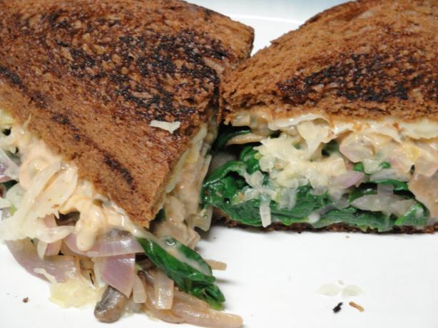 Vegetarian Reubens With Russian Dressing