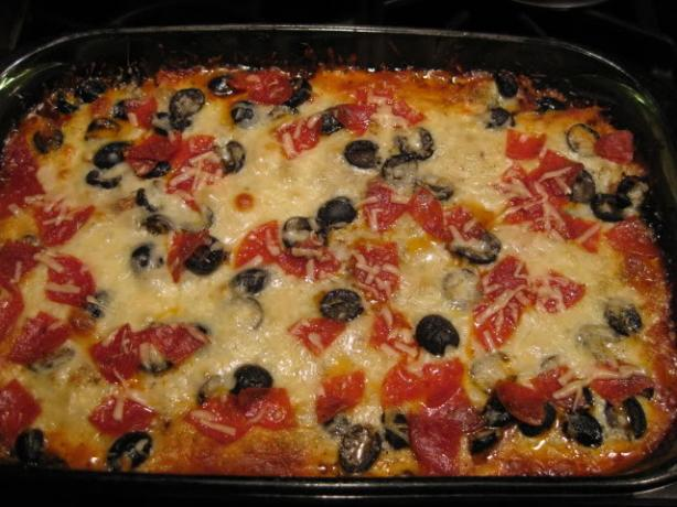 Low Carb Supreme Pizza Casserole