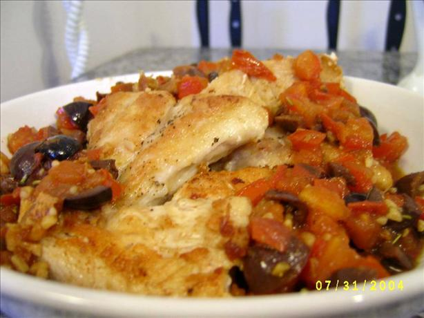 Chicken Breasts with Marsala & Kalamata Olives